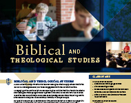 Biblical and Theological Studies Flyer Image