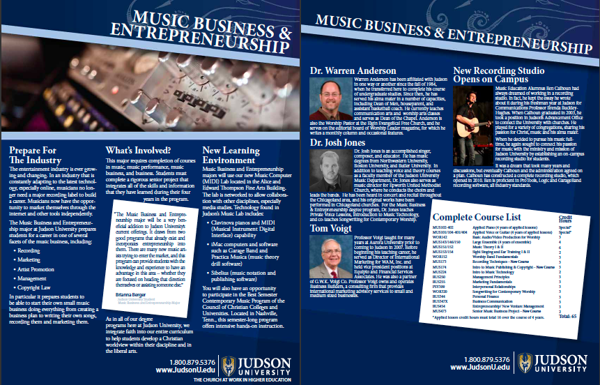 Music Business & Entrepreneurship Flier