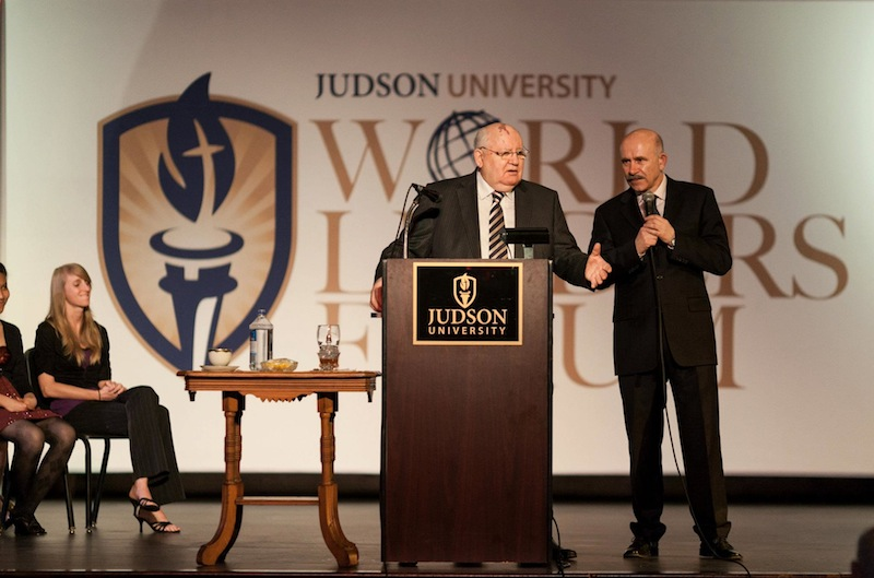 Gorbachev at JudsonU World Leaders Forum 2012